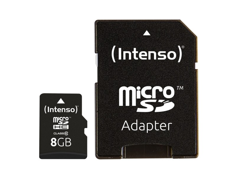 Micro-SD Minneskort 8 GB med Adapter Klass 10
