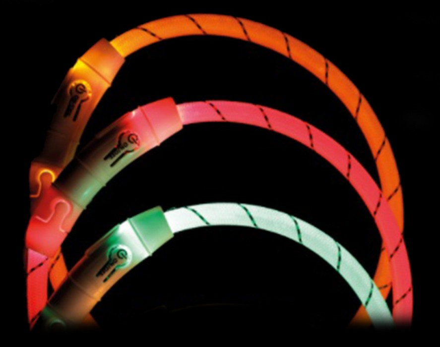 Trixie Flash Light Ring Blinkhalsband